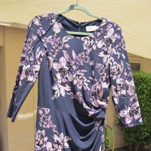 Eliza J Trunk Club blue/purple slinky dress, sz 8